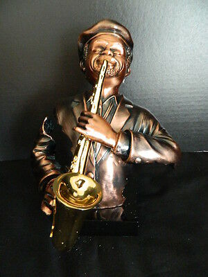 Jazz Saxophone Saxophonist Music Musician Player Figurine Sculpture Statue