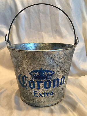 CORONA EXTRA 5qt Galvanized Beer Bucket with Opener On The Side Never Used
