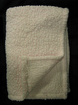Baby Rugged Bear Pink Sherpa Fleece Blanket With Logo Soft Fluffy