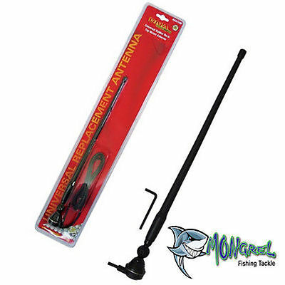 NEW BLACK RUBBER DUCK AM/FM RADIO ANTENNA WITH CABLE suits 4x4/CAR/TRUCK/CARAVAN