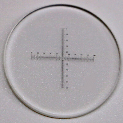 Microscope Objective Micrometer Calibration Slide Reticle Cross Scale 0.1mm