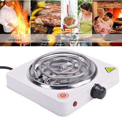 110V Portable Electric Stove  Burner Hot Plate Heater for Cooking 1000W  White