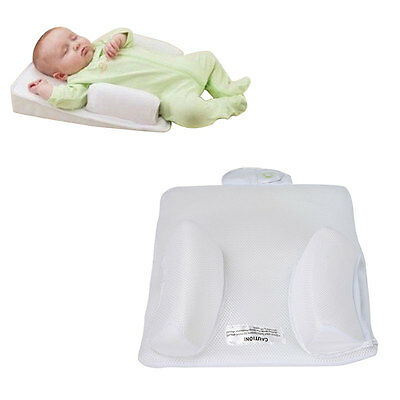 Baby Infant Newborn Soft Sleep Positioner Prevent Flat Head Anti Roll Pillow UK