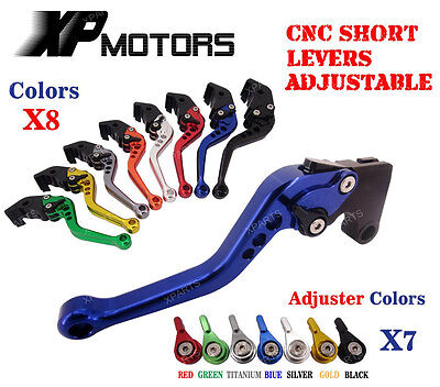 Short Adjustable Brake Clutch Levers For Yamaha YBR125 2004-2010 YBR250 07-13