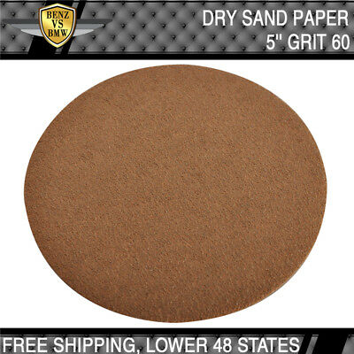 Dry 5 Inch No Hole Sand Paper Disc 60 Grit Body Repair Sanding Sandpaper 10 Pcs
