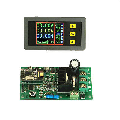 Wireless receiver 80V 20A DC Volt  Ammeter power meter Battery Capacity TIME