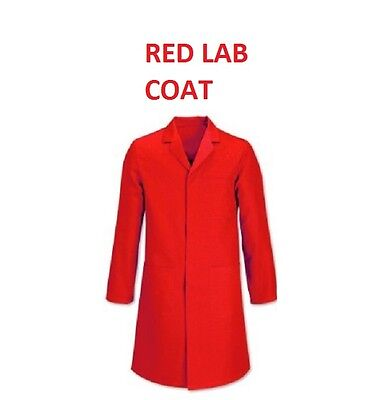 Red Lab Warehouse WorkWear Coat Medical Technician Doctor Fancy Dress Halloween