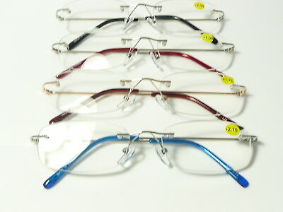 New Mens Womens Designer Unisex Rimless Reading Glasses Ultra Light weight  R160