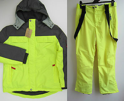 Johnnie B Boden Grey Yellow Ski Snow Jacket Coat Salopettes  Ages 8-16+   Bnwot