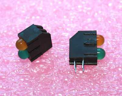 LED Yellow/Green MV63538_MP94 T1-3/4 LED's in Holder - Lot of 50