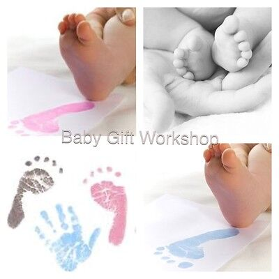 BABY HAND and FOOT PRINT KIT Magic Inkless Art Keepsake New Mummy Mum to be gift