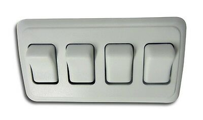 RV Camper Trailer Marine Boat Triple 3 Gang On-Off 12 volt Brown Light Switch