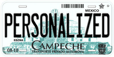 Campeche Mexico Any Name Number Novelty Auto Car License Plate C01