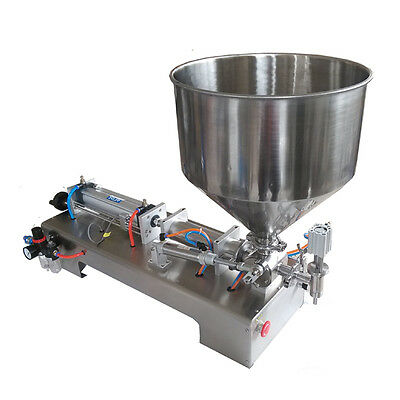 110V Pneumatic Paste and Liquid Filling Machine 10-300ml Volume For Shampoo Oil
