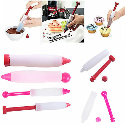 Icing Syringe Cake Decorating Tool Silicon Cream Chocolate Cookie Piping Pen