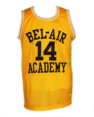 Will Smith #14 Bel-Air Academy Fresh Prince Basketball Jersey Yellow - Any Size
