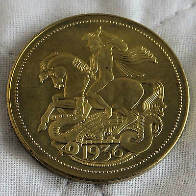Gb Edward Viii 1936 Dated Bronze Proof Pattern George & Dragon Crown