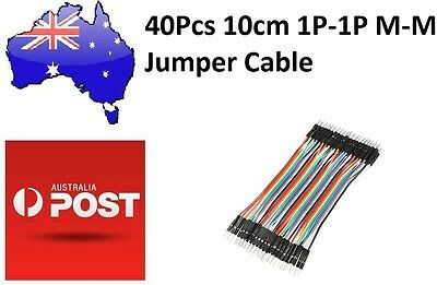 40Pcs 10cm Male to Male Breadboard Jumper Cable 1P-1P (Arduino/PIC) DuPont