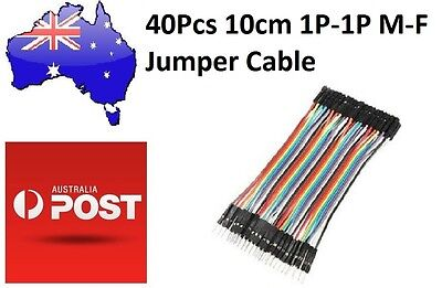 40Pcs 10cm Male to Female Breadboard Jumper Cable 1P-1P (Arduino/PIC) DuPont
