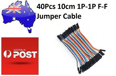 40Pcs 10cm Female to Female Breadboard Jumper Cable 1P-1P (Arduino/PIC) DuPont