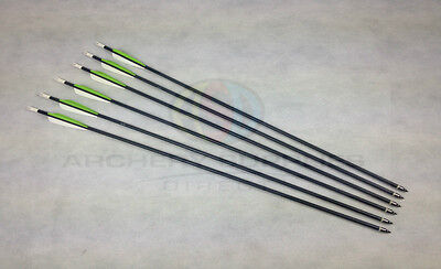 "30"" Black ASD Alloy Heavy Duty Archery Arrows with Screw Tips Recurve Compound"