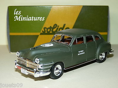 Véhicule Chrysler Windsor 1948  Solido militaire 1/43