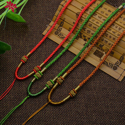 2PCS DIY Necklace Pendant Crystal Pendant Rope Hand-knitted Cord Hand-woven Rope