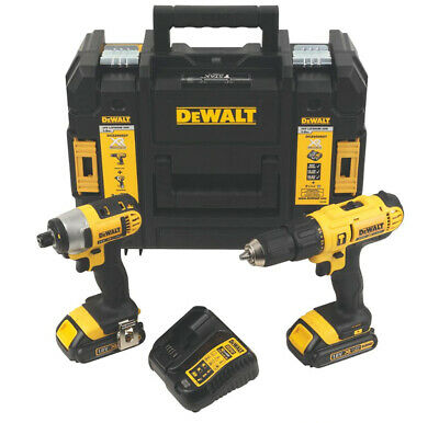 Dewalt 18V Li-ion Combi Drill & Impact Driver Twin Pk inc 2 XR Batteries! *NEW*