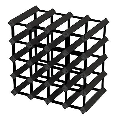 20 Bottle Timber Wine Rack - Black Onyx - Fully Assembled & Delivered