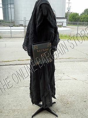 Grandinroad Halloween Prop Life Size Grim Cloaked Reaper LED morphing LADY 6'