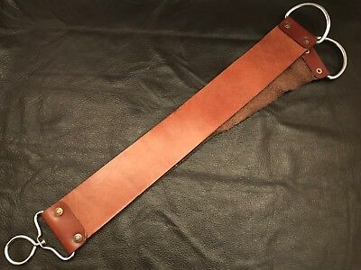 "18"" Straight Razor Sharpening Tool Leather Strop - Home- Barbers-P7"