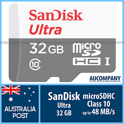 SanDisk Ultra 32 GB 32G Micro SD SDHC Class 10 UHS-I Up To 48MB/s Memory Card TF