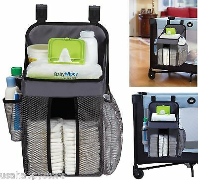 Nursery Diaper Wipes Storage Caddy Stacker Hanging Baby Infant Changing Holder