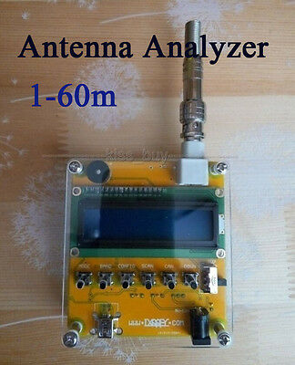 MR100 Digital Shortwave Antenna Analyzer Meter Tester 1-60M For Ham Radio Q9