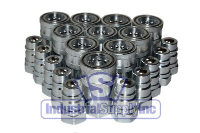 """10-pk 1/2"""" NPT Agricultural  Hydraulic Quick Coupler"""