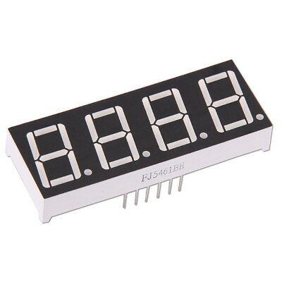 "4-Digit 0.56"" 7-Segment Color Red LED Display Common Anode Arduino Module"