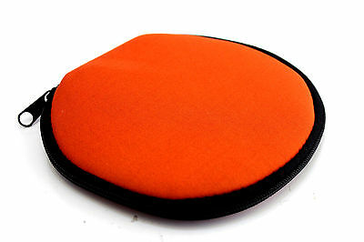 (Lot of 48 Holders) Disc Storage Bag Carry Wallet CD DVD ORANGE 12 Sleeves/Case