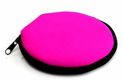 (Lot of 3 Holders) Disc Storage Bag Carry Wallet CD DVD PINK- 12 Sleeves/Case