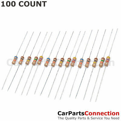 100 X 1K Ohm Flame Retardant Carbon Film Resistors 1/4 Watt 5% Shipping From US
