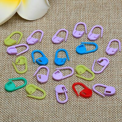 20-200x Colorful Knitting Crochet Locking Stitch Needle Marker Clip Holder Craft