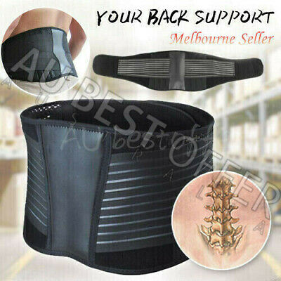 Lumbar & Lower Back Support Belt Brace Strap, Pain Relief, Posture Waist Trimmer