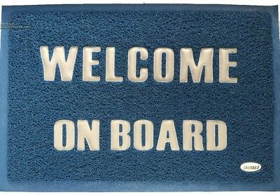 Welcome Anti Slip Door Mat Caravan RV Boat Indoor Outdoor Floor Entrance Mat