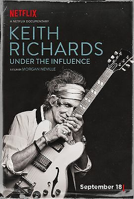 Keith Richards Under The Influence Movie Poster Rolling Stones Morgan Neville