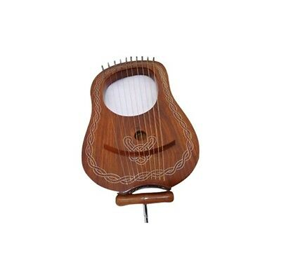 Lyra Harp 10 Strings. Rose Wood.  With Tuning Key & Soft Carry Bag.