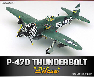 Academy 12474 P-47D THUNDERBOLT Eileen 1/72  Plastic Model Kit Toy Aircraft New