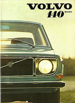 Volvo 140 Series 1970-71 UK Market Brochure 142 144 145 De Luxe Grand Luxe