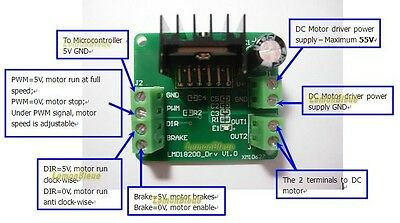 PWM Adjustable Speed Motor Driver Module LMD18200T for Arduino R3 Robot Project