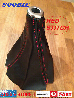 Gear Shift Boot/cover/glove For All Subaru Wrx/sti/foz/lib 5 Spd -Red Stitch !