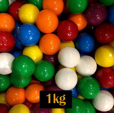Gum Balls Lolly 1kg - 23.5mm diameter -  for Brithday, Party or Lollies Buffet
