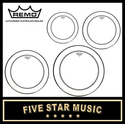 "Remo Powerstroke 3 4 Pce Drum Skin Rock Set 12"" 13"" 14"" 16"" Heads New"